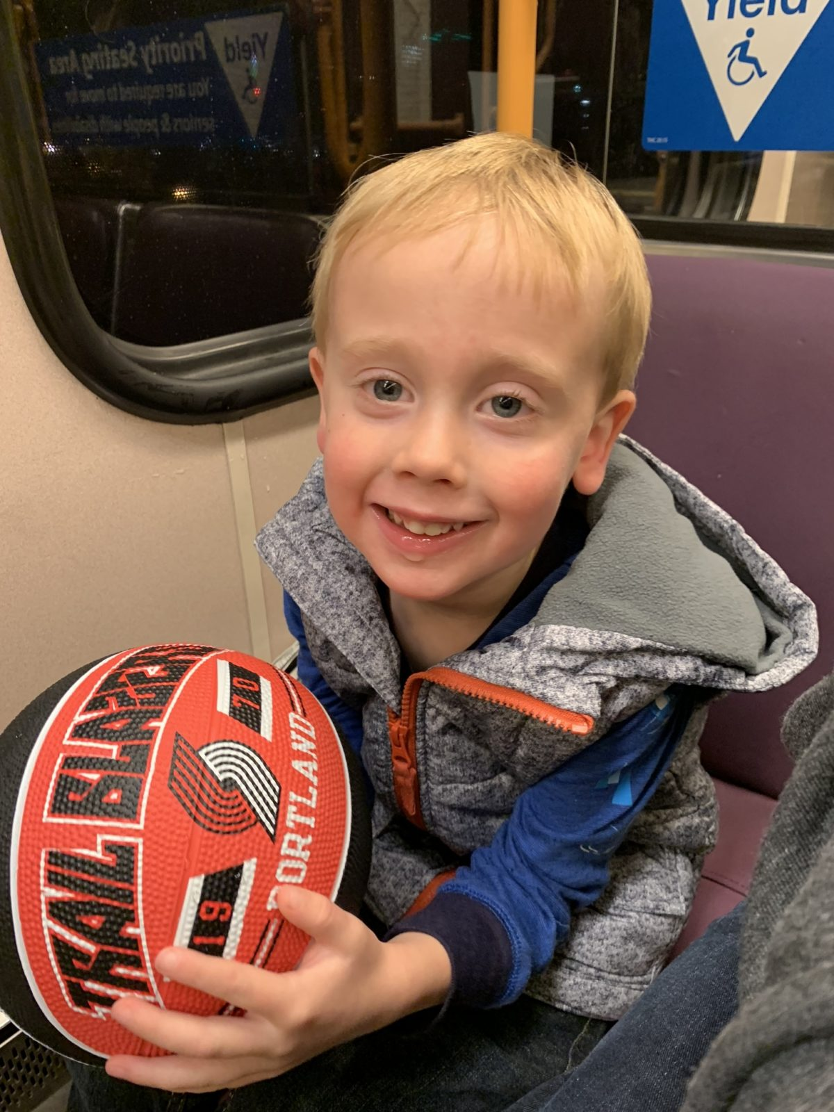 Jack at his first basketball game [VIDEO]