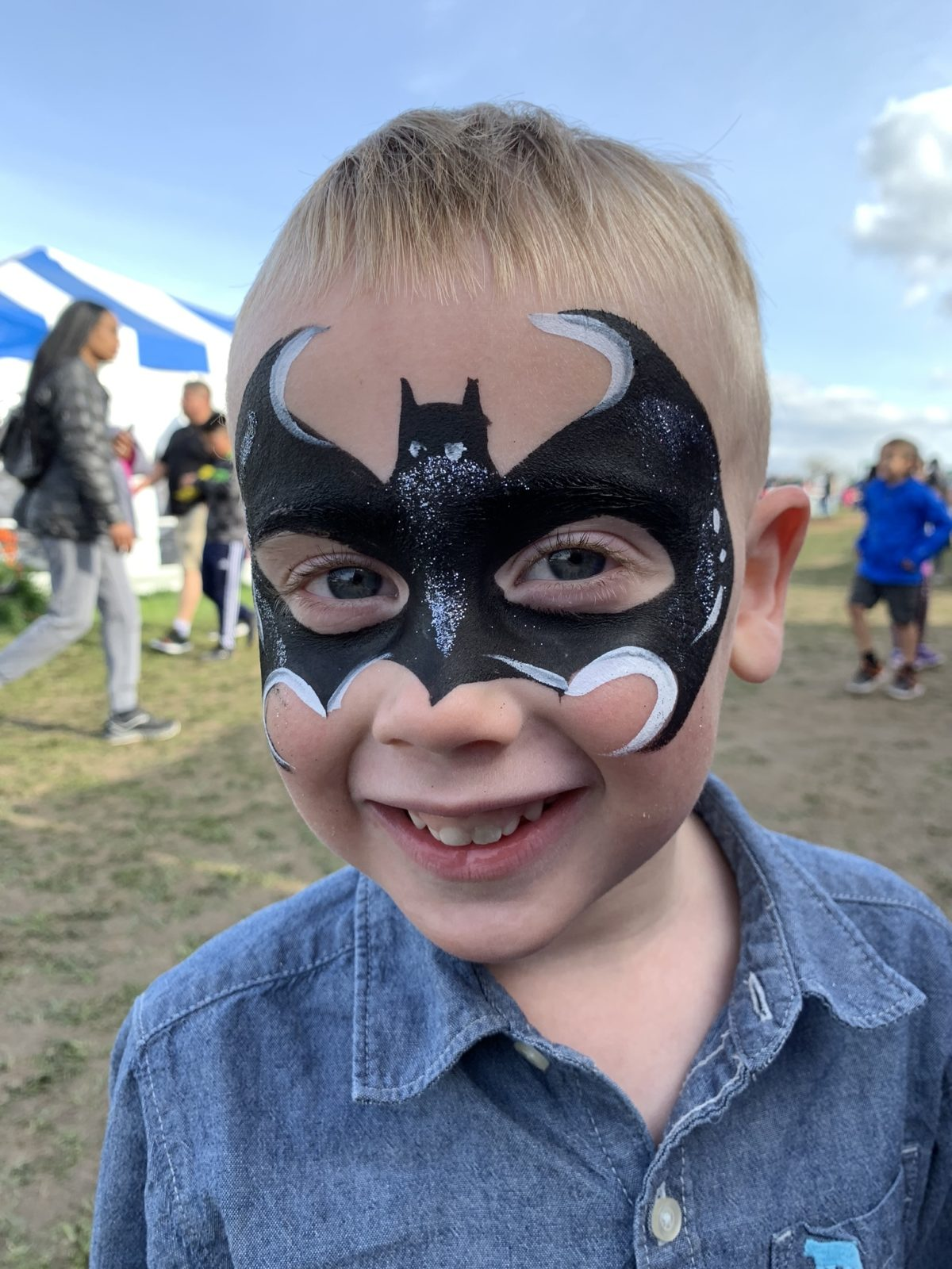 Face painting at the Tulip Festival